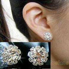Anting stud fashion wanita bunga berlian buatan
