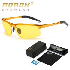 Beli Aoron Klasik Laki Laki Terpolarisasi Kacamata Hitam Olahraga Malam Visi Desain Merek Kacamata Keren Kacamata Oculos De Sol Maupun Aksesoris Emas Kuning Terbaru