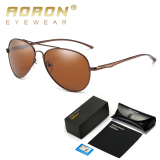 Review Aoron Men S Brand Polarized Sunglasses Classic Oval Shaped Goggles Fashion Leisure Design Glasses With Original Box Eyewear 867 Brown Kacamata Hitam Buy 1 Get 1 Freebie