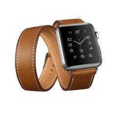 Pita Jam Tangan Apple, 38 Mventer®Kulit Mewah Asli Gelang Jam Tali Gelang Penggantian