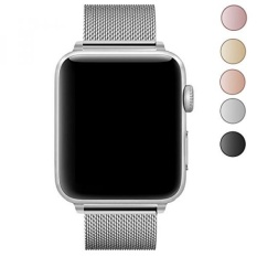 Apple Gelang Jam, Geotel Apple Aksesori Jam Tangan Aku Gelang Jam Milanese Loop Stainless Steel Band dengan Classic Buckle untuk Apple Watch Series 3 Seri 2 Seri 1, nike +, Hermes, Sport & Edition (38mm-silver)-Intl