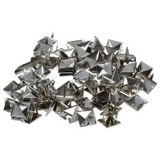 Perkiraan. 100 Pcs 2 Garpu Pyramid Besi Beton 12mm Silver-Bagus untuk Setiap Leathercraft Proyek, Seperti Velts, Tas Tangan, Gelang, Jaket, atau Jenis Pakaian Item (Intl)