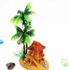 Aquarium Akuarium Dekoratif Oksigen Bubble Mini Kreatif Produk Yurt Kelapa-Intl