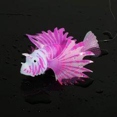 Beli Aquarium Palsu Ikan Tangki Lanskap Dekorasi Glow Hewan Ornamen Ungu Kredit Tiongkok
