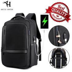 Arctic Hunter Tas Ransel Laptop Premium Executive Oxford Backpack Anti Air dan USB Charge Support AH-B - Hitam