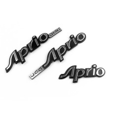 Areyourshop Chrome Gas Tank Decal Badge Emblem Kompatibel dengan JOG R RR ZR Aprio 50 90 100-Intl