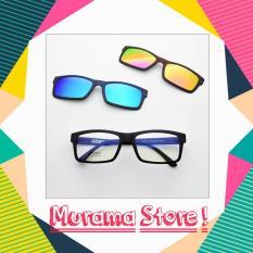 ASK Vision Sunglasess Magnet Frame 3 In 1 / Kacamata Stylist 3 Clip On Lense Copot Pasang Dengan Cepat