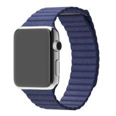 Diskon Asli Kulit Perhiasan Loop Band Tali Pengikat Magnetic Gesper Untuk Apple Watch 42 Mm Bl