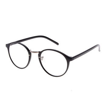 High Quality Charming Womens Round Clear Lens Glasses Metal Frame ... e57f0c5ca5