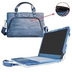 Asus X540SA X540LA, 2 Dalam 1 Dirancang Secara Akurat Pelindung PU Kulit Sarung + Portabel Membawa Tas untuk 15.6 Asus VivoBook X540SA X540LA Seri laptop, biru-Internasional