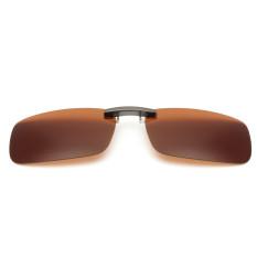 Beli Audew Mengemudi Polarisasi Sinar Uv 400 Lensa Clip On Flip Up Sunglasses Kacamata Dark Brown Secara Angsuran