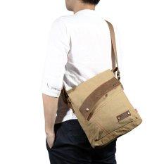 Berapa Harga Augur 9088 Men Bag Vintage Canvas Leather Tc Di Tiongkok