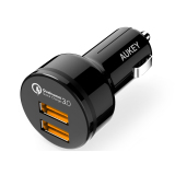 Beli Aukey Cc T8 Usb Car Charger With 2 Port 36W Qualcomm Quick Charge 3 And Aipower Kredit Dki Jakarta
