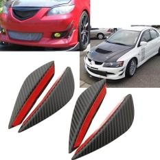 AUkEy Store 1 Set 4 Pcs Mobil Bemper Depan Bibir Sirip Pemisah Tubuh Spoiler