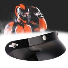 AUkEy Toko Hitam Balap Depan Penutup Cahaya Matahari Puncak Atas Wajah Terbuka untuk Motor Motor Helm-Intl
