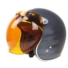 AUkEy Toko Motor Flip Down Helm Visor Angin Perisai Gelembung Wajah Malam Lensa Kaca + Dasar