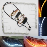 Toko Aukur Car Crystal Water Lamp With Telescopic Steering Led Flexible Headlight Tube 12Led Strip Drl Daytime Running Light White Turn Signal Light Amber Combination For Pretty Any Car Truck Suv 37 49Cm Intl Termurah