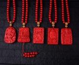 Beli Authentic Handmade Vermillion Cinnabar Buddha Kalung Liontin Alam Batu Permata Fashion Crystal Jewelry Aksesori Partai Hadiah Kecantikan Baru Intl Di Tiongkok