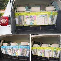 Auto Big Car Seat Organizer Untuk Mobil - Tas Kantong Penyimpanan Belakang Jok Mobil Tas Serbaguna Tas Penyimpanan Barang Saat Berpergian Tas Travelling Tas Mobil Rak Gantungan Jok Mobil - Warna Random