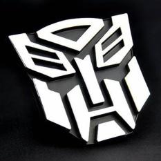 Auto Fan 3D Stiker Bot Belakang Transformers Spanduk Stiker Mobil Emblem Keren-Intl