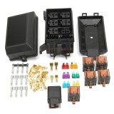 Harga Auto Fuse Box 6 Relay Holder 5 Road Insurance Institution Dengan 5X12 V 80A 1X12 V 40A Intl Yg Bagus