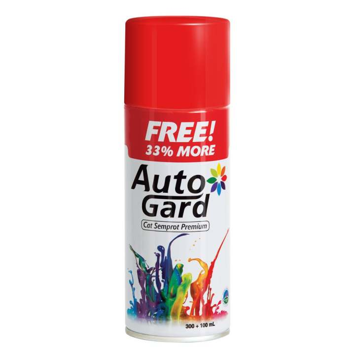 AutoGard - 61 Paint - Red - Merah - Premium Automotive Motorcycle Car Aerosol Premium Paint - Cat Semprot Mobil Motor Premium