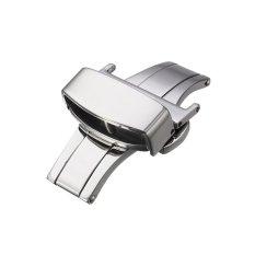 Harga Automatic Double Klik Butterfly Buckle Watch Push Button Fold Penyebaran Watchband Clasp Strap Gesper 20Mm Intl Terbaru