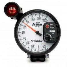 Autometer  7599 Phantom2 Tachometer 5 inci dengan Shift-Lite.