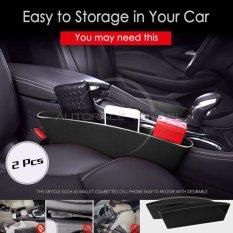 Autorace 2pcs Tray Rak Samping Jok Kursi Mobil Selipan Tempat Barang Multifungsi / Car Seat Organizer / Catch Dady Aksesoris Mobil - Black