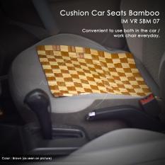Autorace Alas Duduk Bambu/Sandaran Jok Mobil/Tikar Bambu/Alas Kursi Anti Panas Multifungsi Kecil 37x37cm VR SBM-07 - Brown