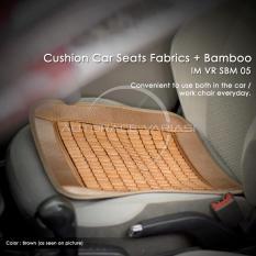 Autorace Alas Duduk Bambu/Sandaran Jok Mobil/Tikar Bambu/Alas Kursi Anti Panas Multifungsi VR SBM-05 - Brown
