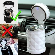 Autorace Asbak Rokok Mobil Sensor LED / Aksesoris Asbak Mobil / Tempat sampah Abu / Putung Rokok Mini Unik LP-012 – White