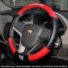AUTORACE Cover Stir / Sarung / Aksesoris Pelindung Setir Mobil Universal Awet Kuat 104 Tranformrs - Merah