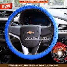 Toko Autorace Cover Stir Silikon Motif Sarung Setir Car Steering Silicon Cover Pattern Sl 02 Blue Murah Di Jawa Timur