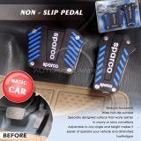 Beli Autorace Pedal Mobil Matic Non Slip Pedal Cover Kopling Rem Gas Mobil Vr Ps 03 Sparco Blue Lengkap