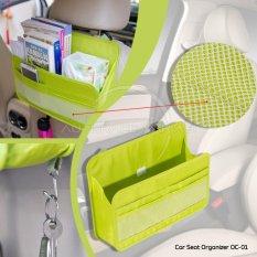 Autorace Rak Gantung Kursi Mobil Buku,HP, Aneka Barang / Car Seat Organizer OC-01 - Green