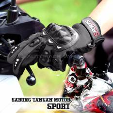 Spesifikasi Autorace Sarung Tangan Sport Panjang Glove Rider Pelindung Tangan Motor Touring Black Dan Harga