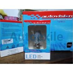 Autovision Hi Power LED H6 M5 8W Kaki 1 5700K CREE Putih - Lampu Bebek Matic Beat Scoopy Jupiter Mio