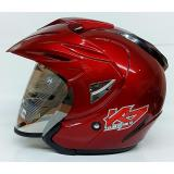 Promo Ava K7 Falcon Helm Half Face Marron Murah
