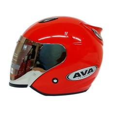 Jual Ava Ss7 Helm Half Face Red Metallic Baru