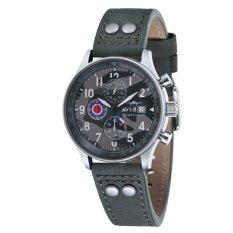Harga Avi 8 Hawker Hurricane Av 4011 0A Pria Grey Genuine Leather Strap Watch Online