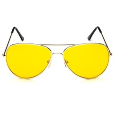 Aviator UV400 RB3089 Sunglasses - gold frame night vision lenses