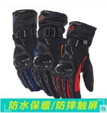 AX Sepeda Motor Berkuda Sarung Tangan Layar Sentuh Anti-Air dan Dropproof Musim Dingin Hangat Motor Knight Sarung Tangan Silang Country Sarung Tangan (Warna: merah) (Ukuran: XL)-Internasional