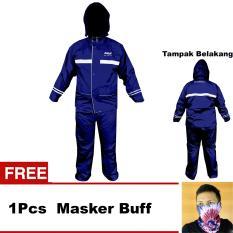 Toko Axio Jas Hujan Axio Europe Original Bonus 1 Pcs Masker Buff Axio Biru Tua Terlengkap Di Dki Jakarta
