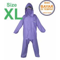 Axio - Jas Hujan Karet Rubber PVC Bahan Tebal Dan Berat 1,5Kg - Biru Tua XL