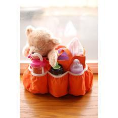 Baby Talk Diaper Bag Organizer (DBO) / Tas Botol Susu Dan Popok Bayi Tas Travelling Bayi Tas Peyimpanan Peralatan Bayi Tas Bayi Murah Super Best Seller Tas Ibu dan Anak Tas Popok Murah Tas Jinjing Ibu Hamil Tote Bag Bayi - Orange
