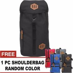 Bag & Stuff - Amsterdam Backpack 30 Liter + FREE 1 Titan Shoulder Bag Random Color / Tas Pria / Tas Wanita / Tas Laptop / Tas Sekolah / Ransel Pria / Ransel Wanita / Ransel Sekolah / Ransel Murah
