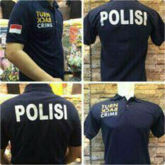 Baju Polo Turn Back Crime Warna Navy Belakang Polisi Full Bordir - Fircdk