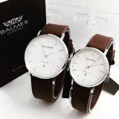 Review Toko Balmer Bl7913 Original Jam Tangan Couple Serries Dark Brown Silver Leather Strap Online