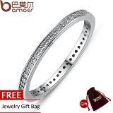 Harga Bamoer 925 Sterling Silver Stackable Jantung Mahkota Tanpa Pamrih Ibu Ring Untuk Wanita Clear Cz Authentic Silver Jewelry Gift Scr030 Bamoer Baru